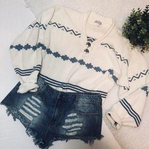 Vintage Tribal Avon Style Grandpa Sweater
